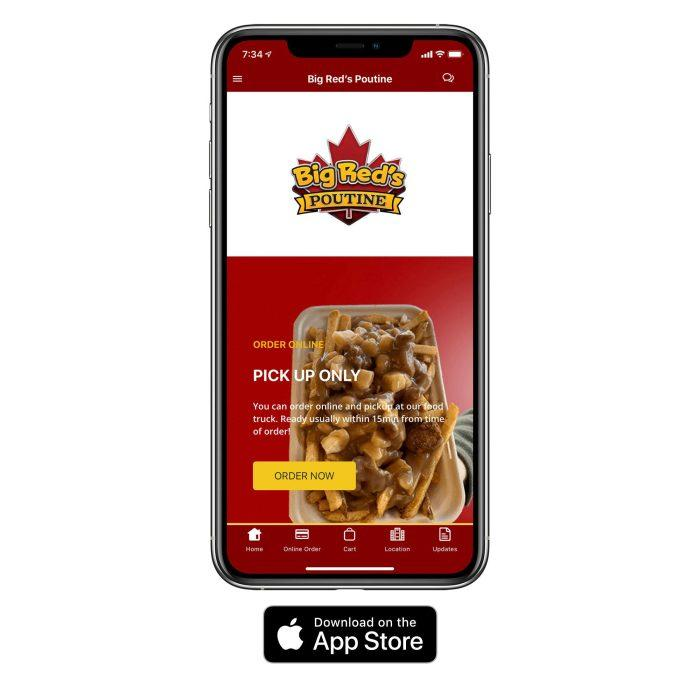 big reds poutine iOS app
